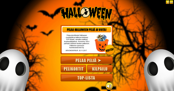 Pelaa Halloween -muistipeliä ja osallistu kuukausikilpailuun!